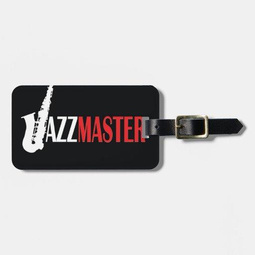 Amo del jazz etiquetas bolsa