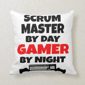 Amo del melé por videojugador del día por noche cojín