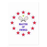 Amo del tenis de los oscilaciones plantilla de tarjeta personal
