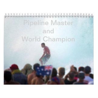 Amo del tubo y campeón del mundo calendario de pared