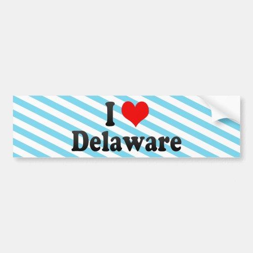 Amo Delaware, Estados Unidos Pegatina Para Auto
