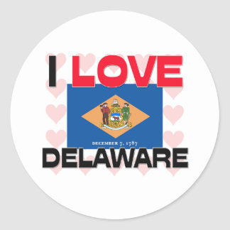 Amo Delaware Etiquetas Redondas