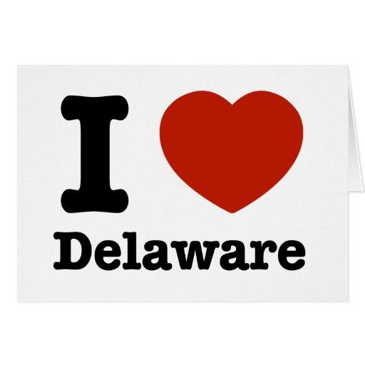 Amo Delaware Tarjeta De Felicitación