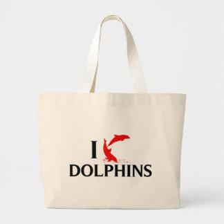 Amo delfínes bolsas de mano