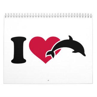 Amo delfínes calendarios
