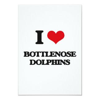 """Amo delfínes de Bottlenose Invitación 3.5"""" X 5"""""""