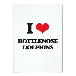 """Amo delfínes de Bottlenose Invitación 5"""" X 7"""""""