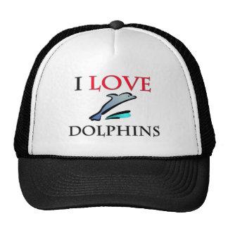 Amo delfínes gorro