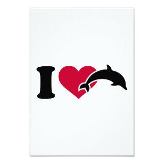 """Amo delfínes invitación 3.5"""" x 5"""""""