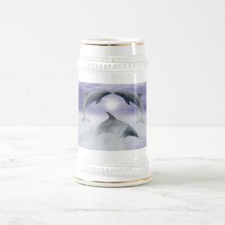 Amo delfínes jarra de cerveza