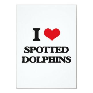 Amo delfínes manchados invitación 12,7 x 17,8 cm