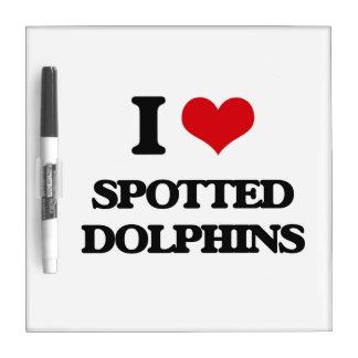 Amo delfínes manchados pizarras