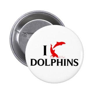 Amo delfínes pin