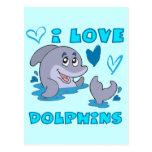 Amo delfínes postal