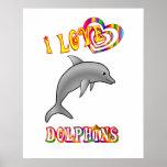 Amo delfínes posters