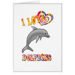 Amo delfínes tarjeton