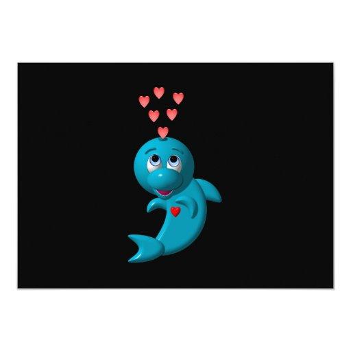 Amo delfínes - te amo anuncio personalizado