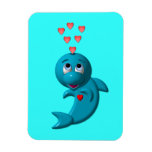 Amo delfínes - te amo imán rectangular