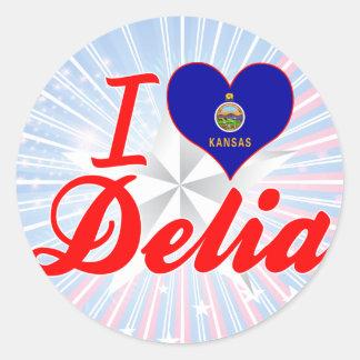 Amo Delia, Kansas Etiquetas Redondas