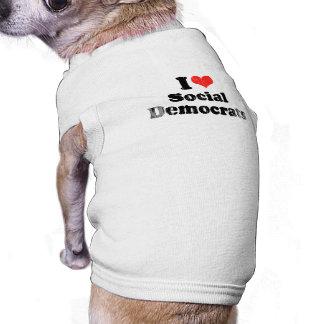 AMO DEMOCRATS png SOCIAL Camisetas De Perro