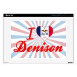 Amo Denison, Iowa Calcomanía Para Portátil