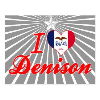 Amo Denison Iowa Tarjetas Postales