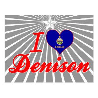 Amo Denison Kansas Tarjetas Postales
