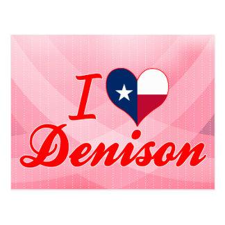 Amo Denison Tejas Tarjetas Postales