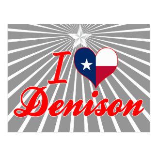 Amo Denison Tejas Tarjeta Postal