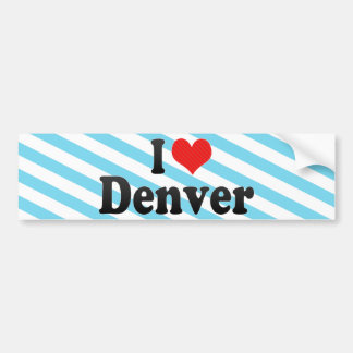 Amo Denver Pegatina Para Auto