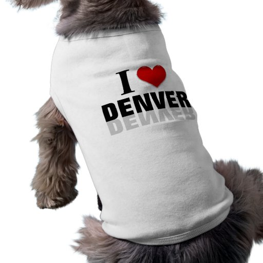 Amo Denver Camiseta De Perrito