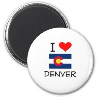 Amo DENVER Colorado Imán Redondo 5 Cm
