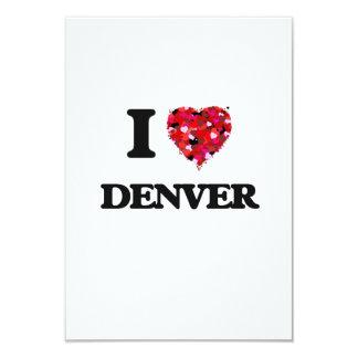 """Amo Denver Colorado Invitación 3.5"""" X 5"""""""