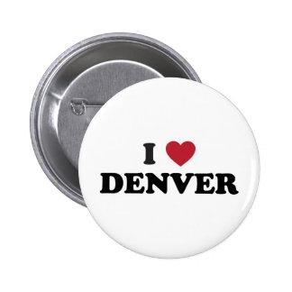 Amo Denver Colorado Pin Redondo De 2 Pulgadas