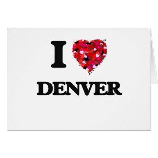 Amo Denver Colorado Tarjeta De Felicitación