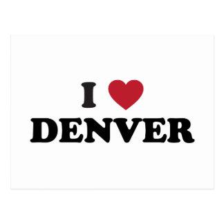 Amo Denver Colorado Tarjetas Postales