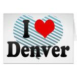 Amo Denver, Estados Unidos Tarjeta