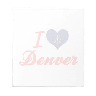 Amo Denver Indiana Bloc De Notas