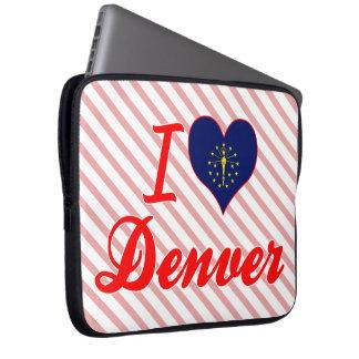 Amo Denver Indiana Funda Computadora