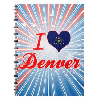 Amo Denver Indiana Libretas Espirales