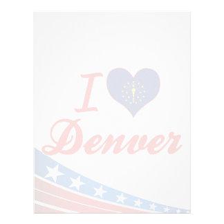 Amo Denver Indiana Membretes Personalizados