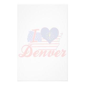 Amo Denver Indiana Papeleria Personalizada