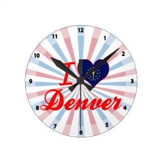 Amo Denver Indiana Reloj De Pared
