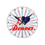 Amo Denver, Indiana Reloj De Pared