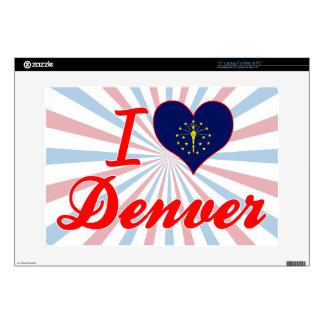 Amo Denver Indiana Portátil Calcomanías