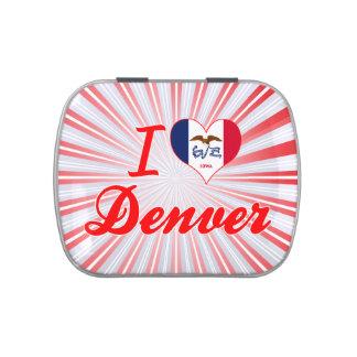 Amo Denver, Iowa Jarrones De Dulces
