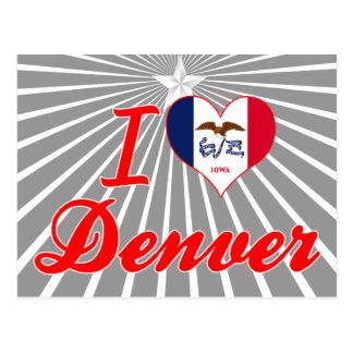 Amo Denver, Iowa Tarjetas Postales