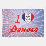 Amo Denver, Iowa Toalla De Cocina