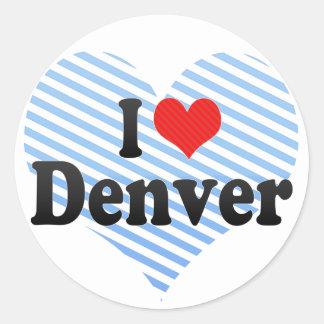 Amo Denver Pegatina Redonda