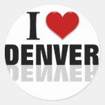 Amo Denver Pegatinas Redondas